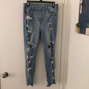 Size 10 distressed American Eagle jeans